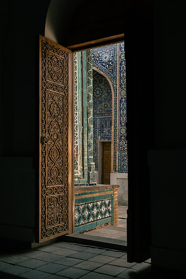 Door to Shah-I-Zinda, Uzbekistan