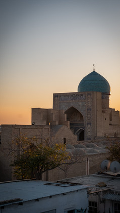 Sunset over Poi Kalyan Mosque, Bukhara, Uzbekistan