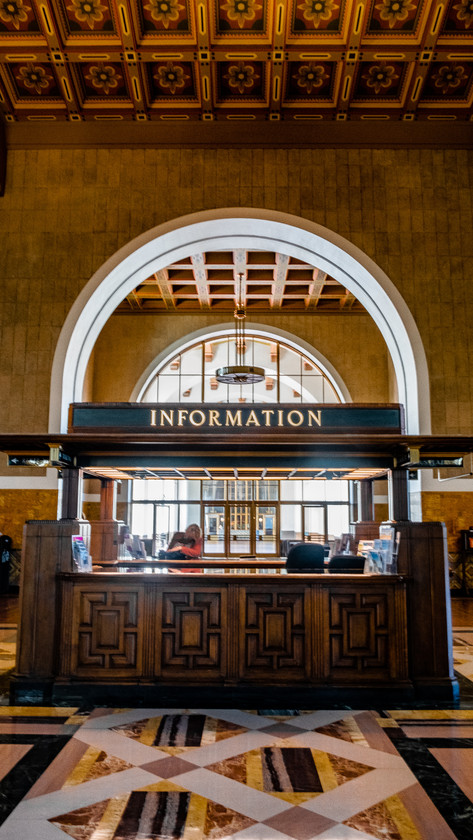 Inside the ticket hall, Union Station, Los Angeles