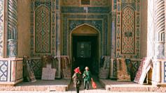 Tourists in Bukhara Uzbekistan