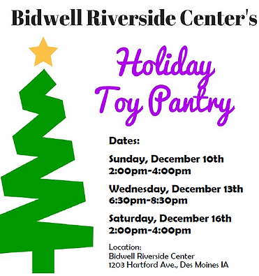 Bidwell Riverside Food Pantry Childcare Holiday Toy Pantry