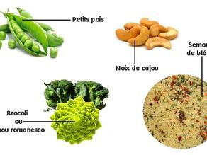 Le taboulé aux légumes verts