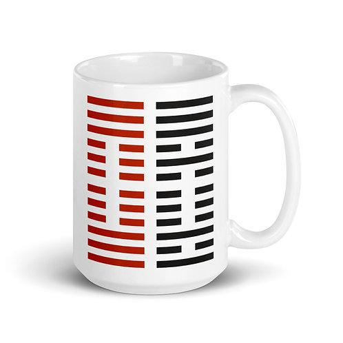 インカネーションクロスの易卦柄 セラミック製マグカップ