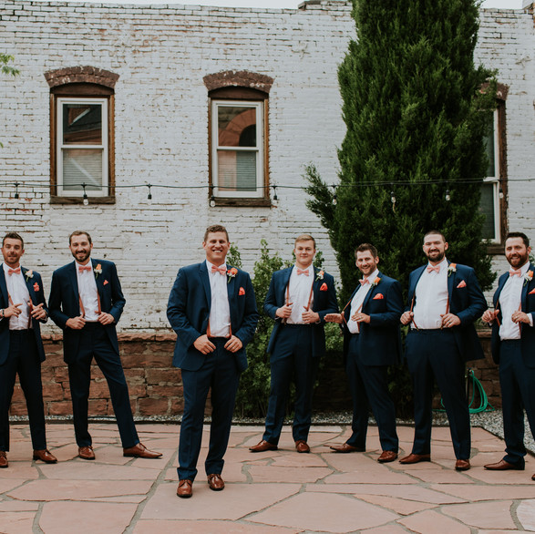 The boys! On our patio before ceremony time.