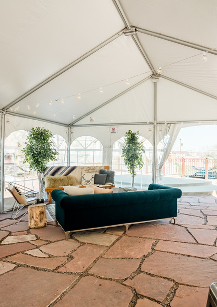 Our Patio!  With Tenting option