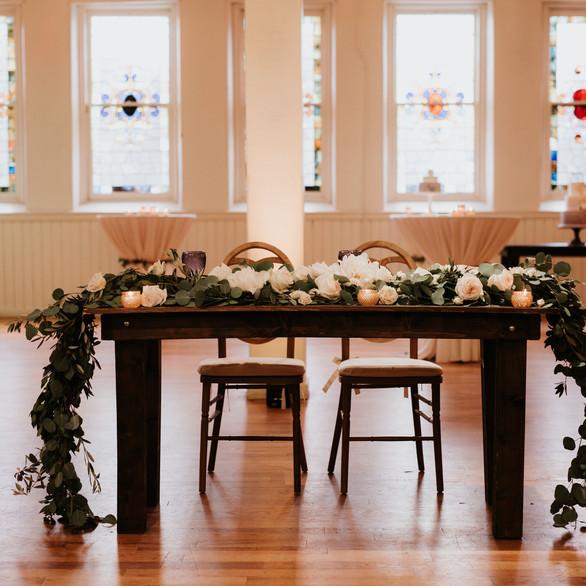 Gallery head table