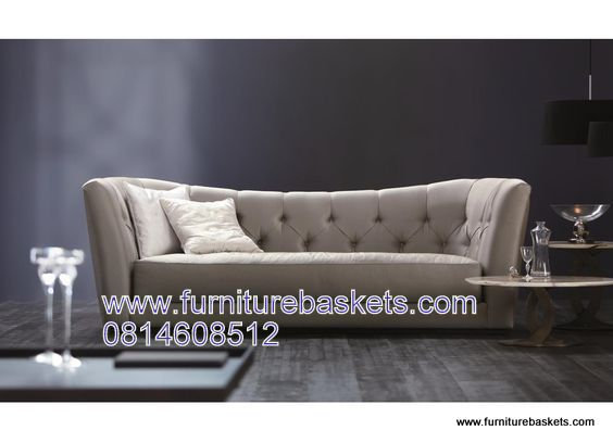 Tufted Banana curve  couch