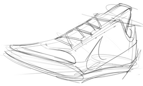 Draw Shoe Last Step 4 Laces and Nike Swo