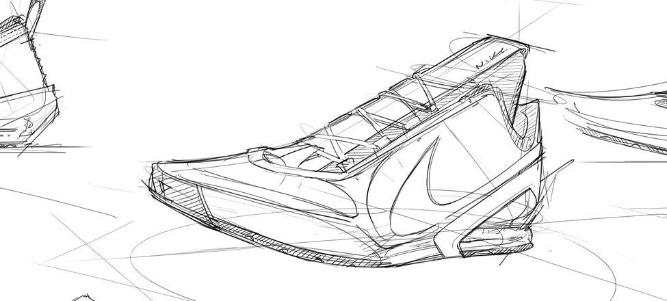 Sneaker sketch pros drawing