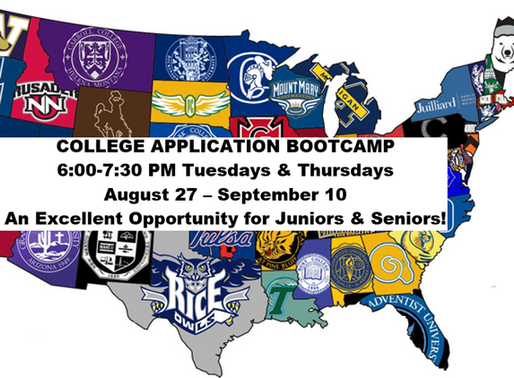 COLLEGE APPLICATION BOOTCAMP