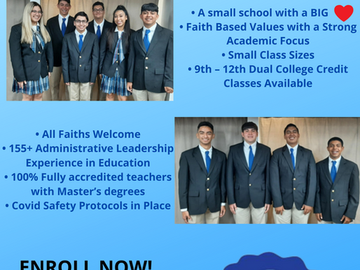 Enroll Today. Small School with a Big Heart