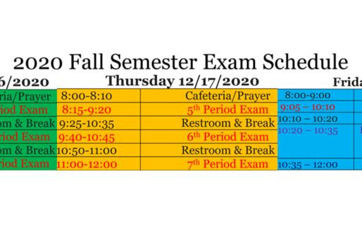 STG Fall Mid-Term Exam Schedule