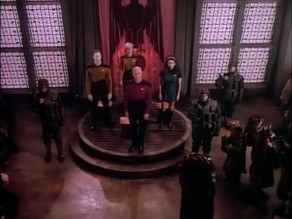 Picard Stands Up For His Team; And Sits Down