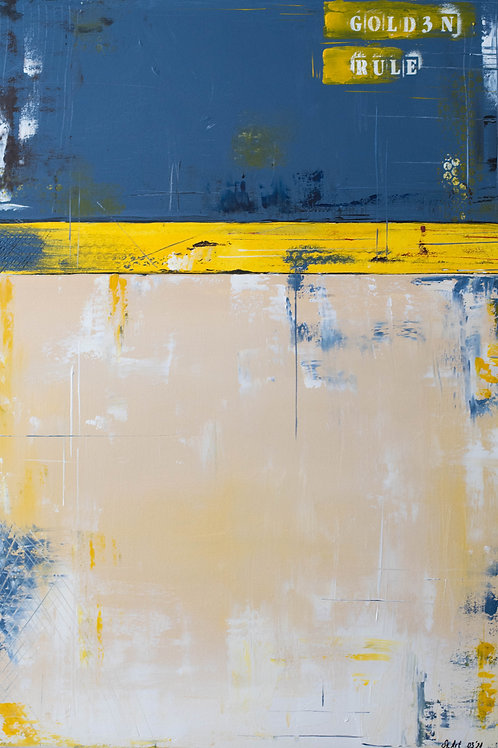 "Acrylbild ""golden rule"" abstrakt Neu"