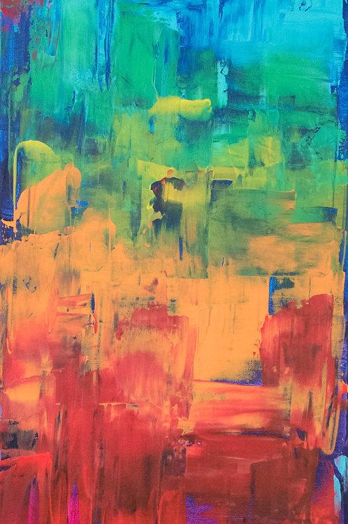 "Acrylbild ""Farbexplosion"" bunt"