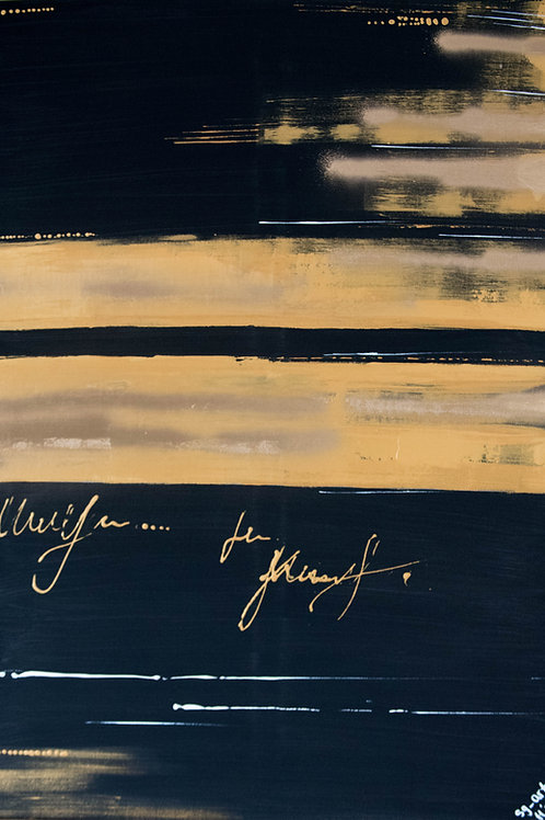 Acrylbild gold schwarz