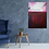 "Thumbnail: Acrylbild ""Zufriedenheit"" rot magenta weiss"