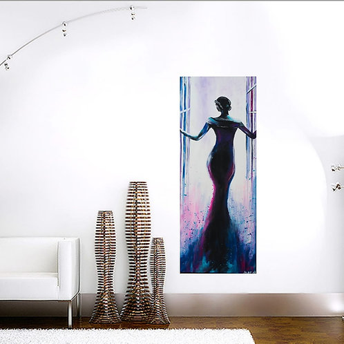Acrylbild Frau abstrakt