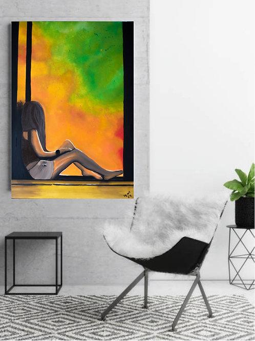 """""""Das geheime Fenster"""" Acrylbild"""