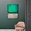 Thumbnail: Acrylbild abstrakt grün braun beige