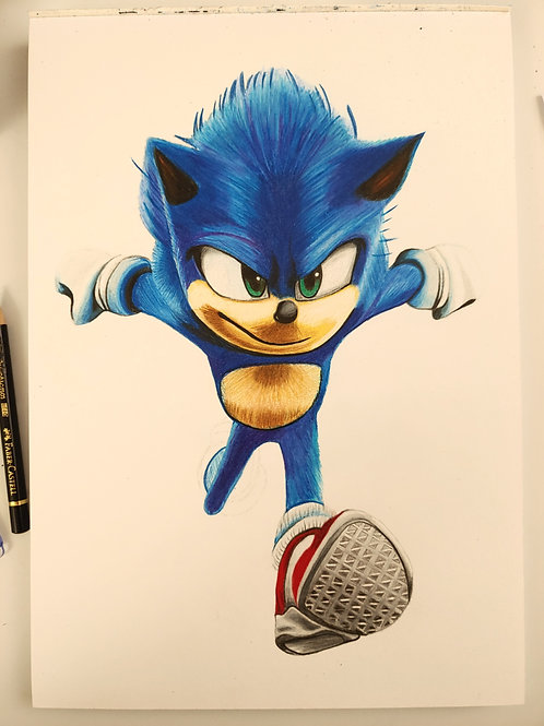 Sonic handgemalt