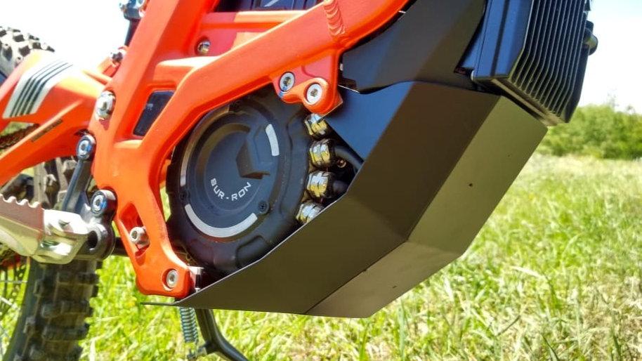 Reinforced motor guard plate