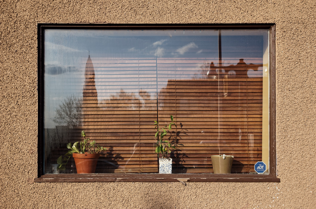 Blue Window treatment Wall
