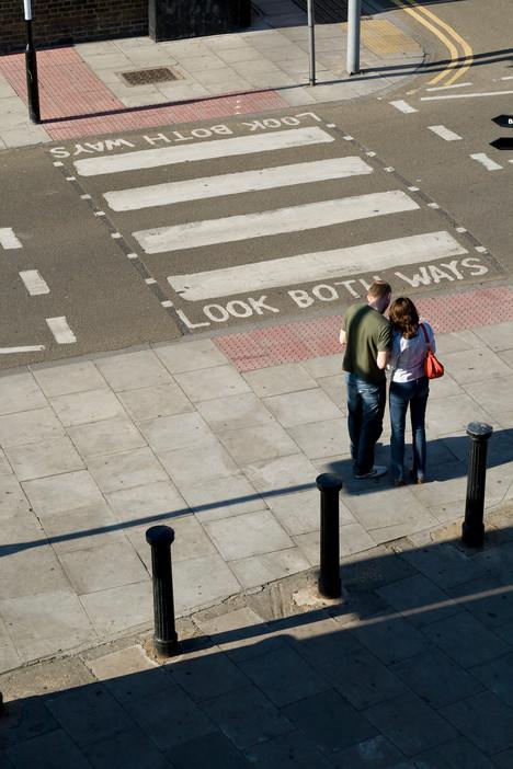 Shadow Zebra crossing Public space Line