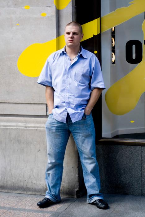 Jeans Denim Blue Yellow Clothing Standin
