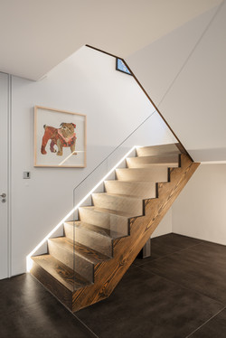 New stairs to ground floor level