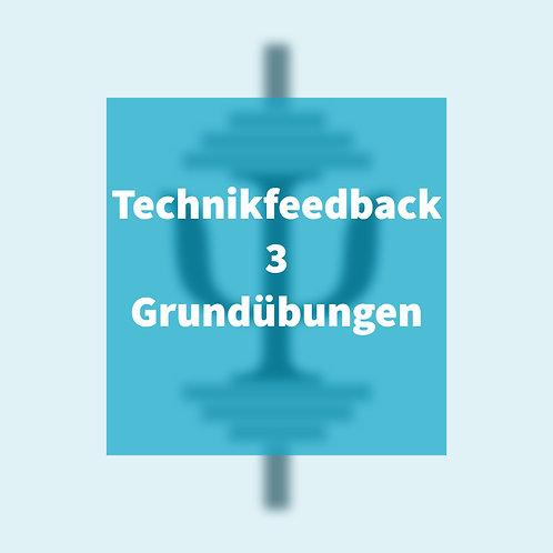 Technikfeedback 3 Grundübungen