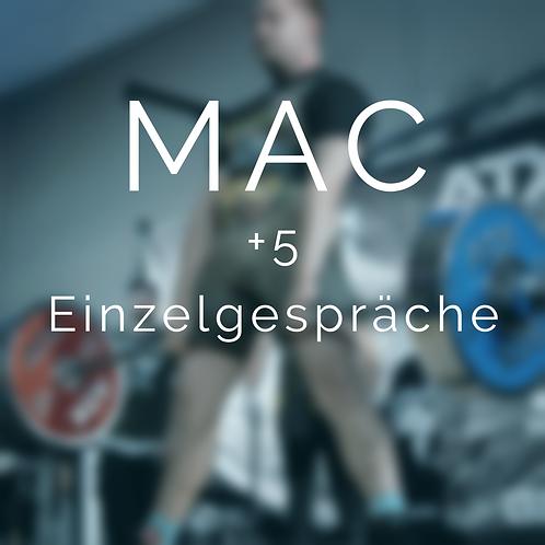 MAC: sportpsychologisches Trainingsprogramm + 5 Einzelgespräche