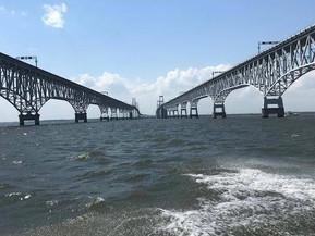 Chesapeake Bay Bridge on a Sunny Day