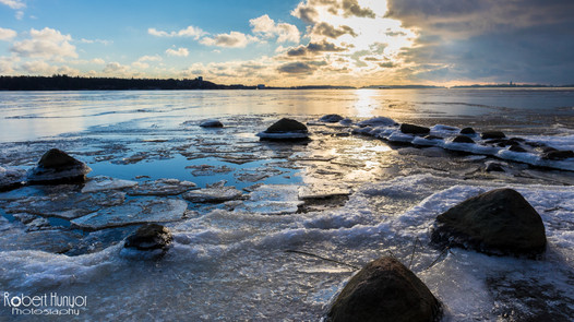 Rocky Shore Sunset - Finland