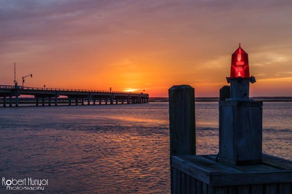 Chincoteague Beacon Sunset