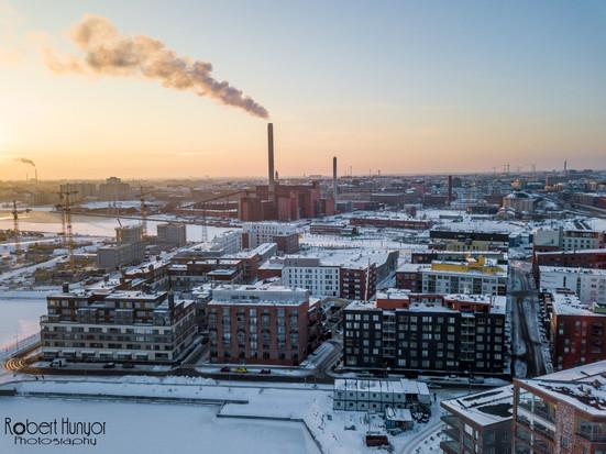 Winter Sunset From the Mavic Pro