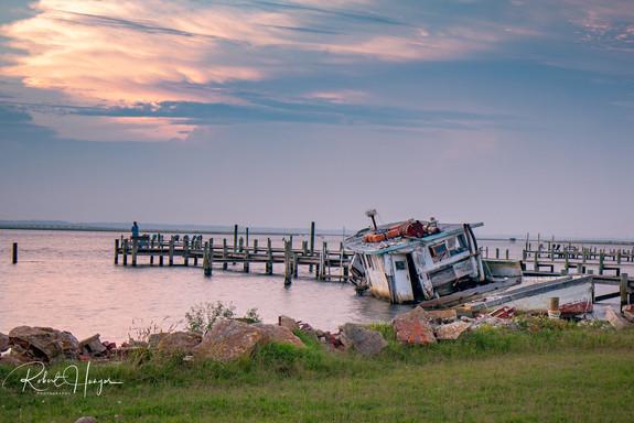 Chincoteague Half Sunken Boat