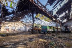Dilapidated Train Building