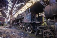 Abandoned Train Engine