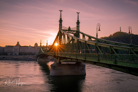 Liberty Bridge Sunset