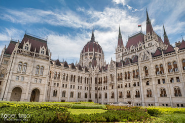 Budapest Parlement with Blue Skies