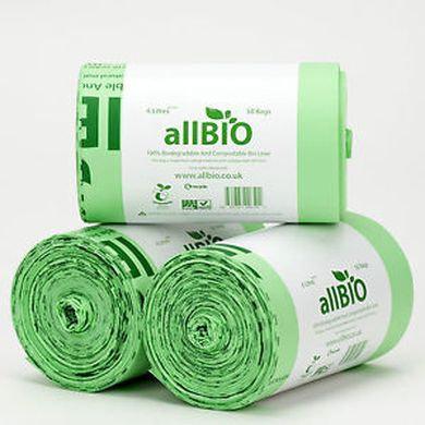 AllBio compostable caddy liners 10 litre or 6 litre