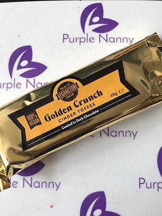 Golden Crunch vegan chocolate bar