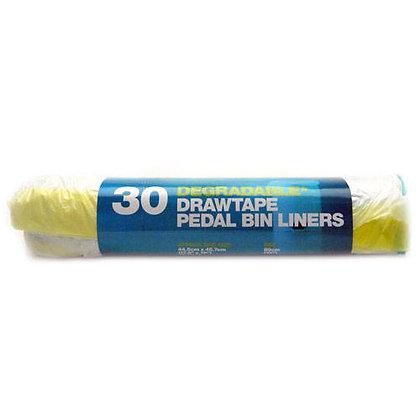 D2W Draw Tape Pedal Bin Liners - 30