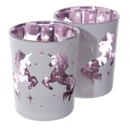 Unicorn Tealight Holder - Purple Nanny