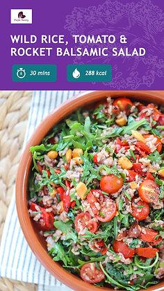 Wild Rice, Tomato And Rocket Salad