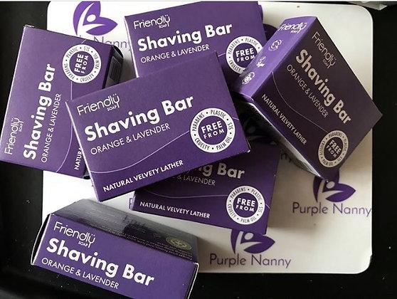 Friendly Shaving Soap Bar - orange and lavender