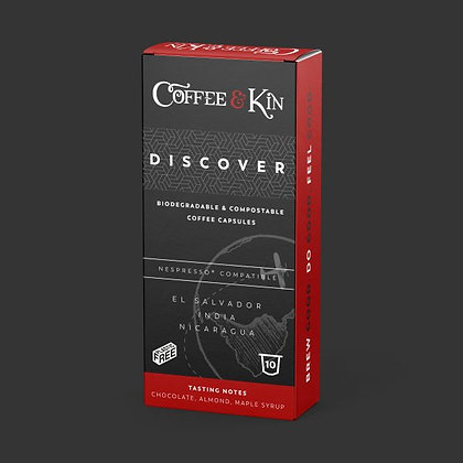 Coffee and Kin compostable coffee pods - Discover