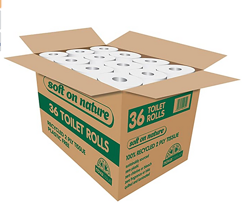 Recycled toilet paper box of 36