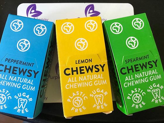 Chewsy plastic free vegan gum
